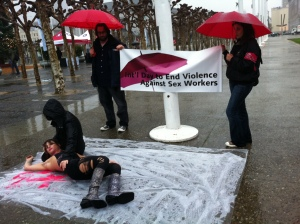 protest as part of the International Day to End Violence Against Sex Workers uploaded by Flickr user Steve Rhodes.
