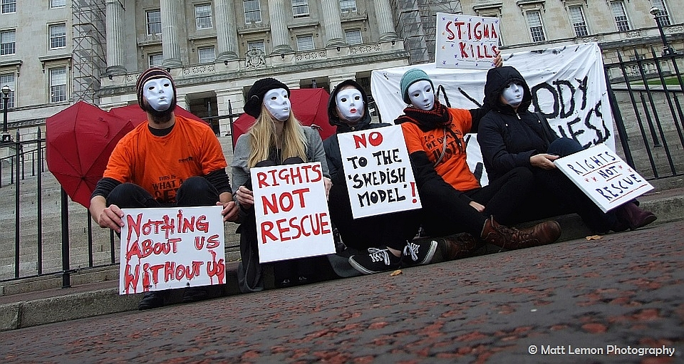 Sex workers and allies protest at Stormont. Matt Lemon Photography. All Rights Reserved. featured